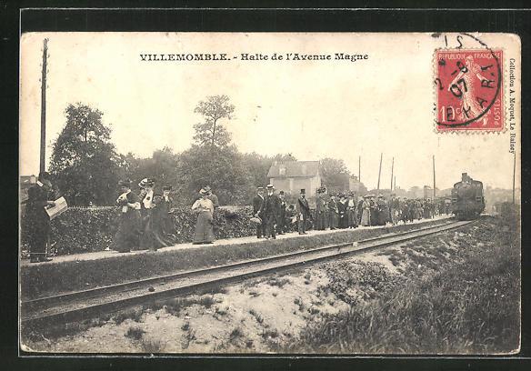 AK Villemomble, Halte de l'Avenue Magne