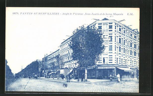 AK Pantin, Angle de l'Avenue Jean-Jaures et de la rue Magenta