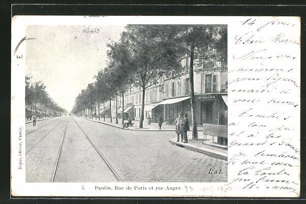 AK Pantin, Rue de Paris et rue Auger 0