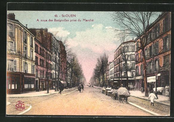 AK St-Ouen, Avenue des Batignolles prise du Marche