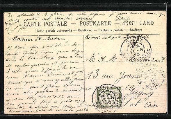 AK Saint-Ouen, Avenue des Batignolles, Carrefour Ernest-Renan 1