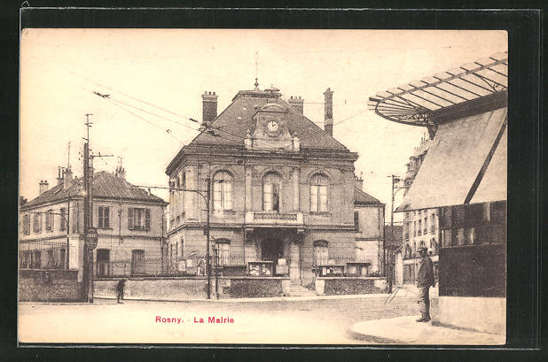 AK Rosny, La Mairie, Partie am Rathaus 0