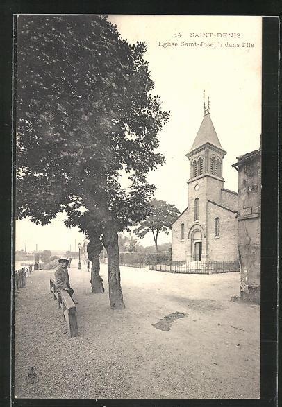 AK Saint-Denis, Eglise Saint-Joseph dans l'Ile 0