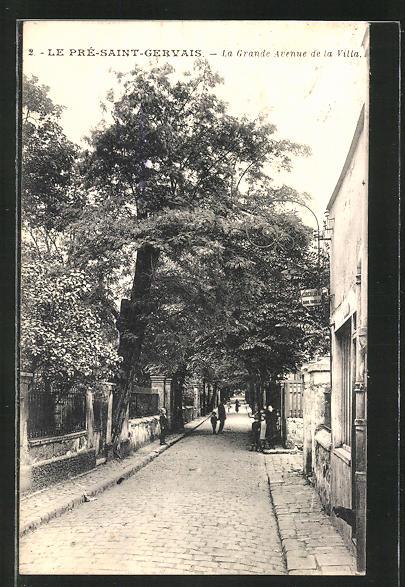 AK Le Pré-St-Gervais, La Grande Avenue de la Villa