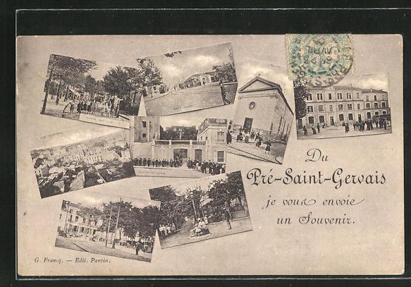 AK Pré-Saint-Gervais, Pensionnat Vaysse, les Ecoles, Avenue des Lilas