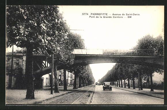AK Pierrefitte, Avenue de Saint-Denis, Pont de la Grande Ceinture