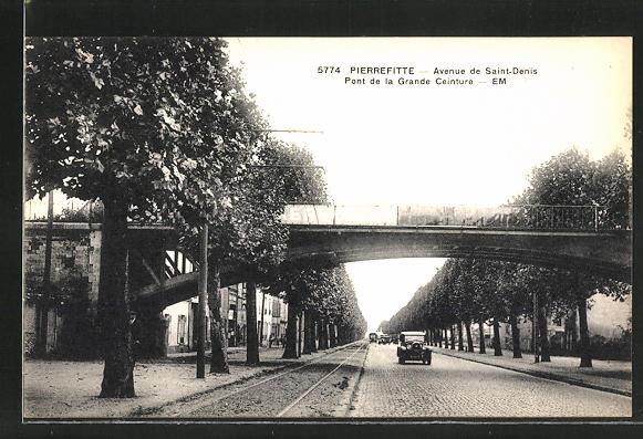 AK Pierrefitte, Pont de la Grande Ceinture, Avenue de Saint-Denis