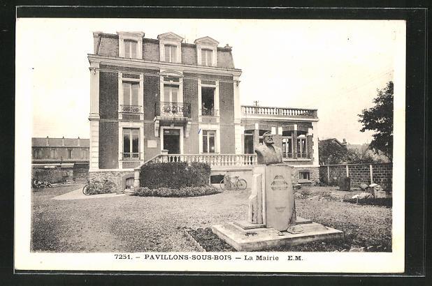 AK Les Pavillons-sous-Bois, La Mairie, Rathaus und Denkmal