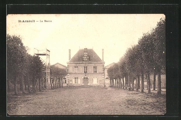 AK St.-Arnould, La Mairie, Blick zum Rathaus