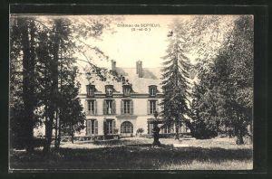 AK Septeuil, Chateau, Partie am Schloss