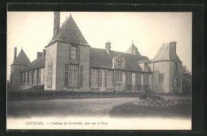 AK Septeuil, Chateau de Corbeville, face sur le Parc