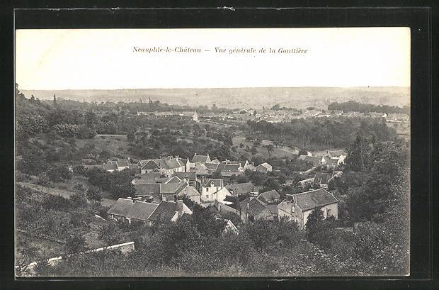 AK Neauphle-le-Chateau, Vue générale de la Gouttière