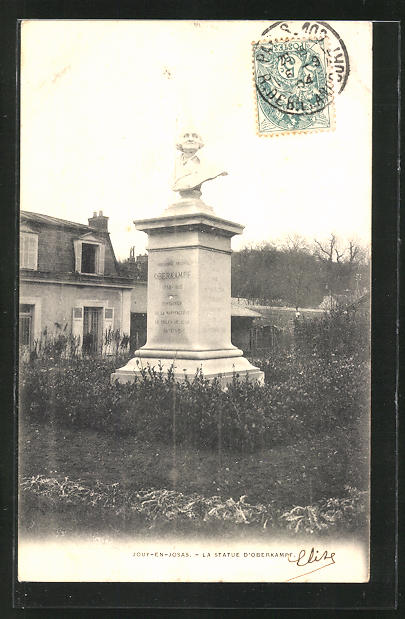 AK Jouy-en-Josas, La Statue d'Oberkampf