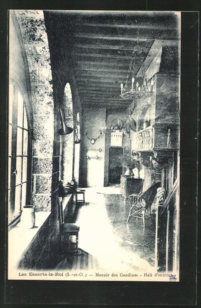 AK Les Essarts-le-Roi, Manoir des Gandines, Hall d'entrée
