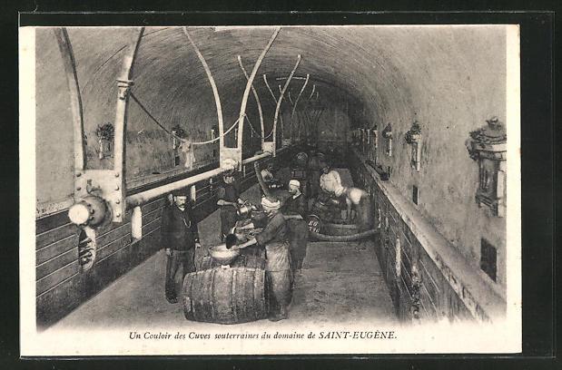 AK Saint-Eugene, Un couloir des Cuves souterraines du domaine