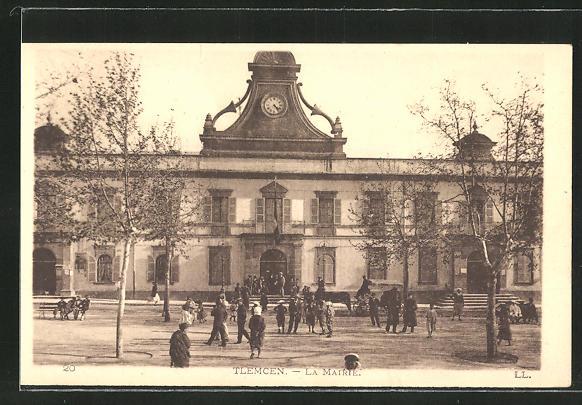 AK Tlemcen, La Mairie, Blick zum Rathaus
