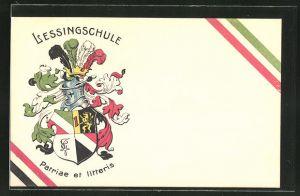 AK Wappen der Lessingschule,