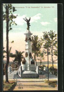 AK S. Salvador / Ca., Monumento 5 de Noviembre