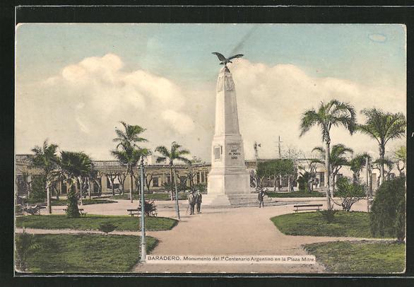 AK Baradero, Monumento del 1e Centenario Argentino en la Plaza Mitre