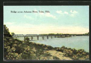 AK Tulsa, OK, Bridge across Arkansas River, Brücke