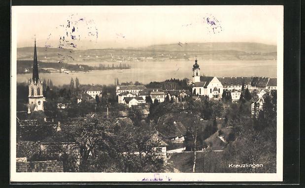 AK Kreuzlingen, Panorama des Ortes