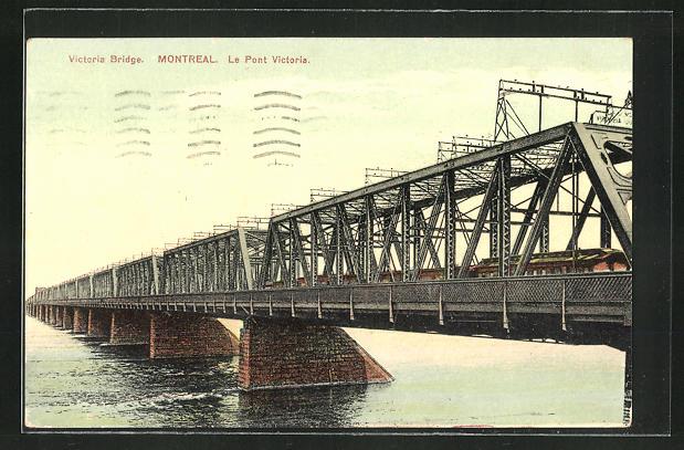 AK Montreal, Victoria Bridge, Eisenbahnbrücke