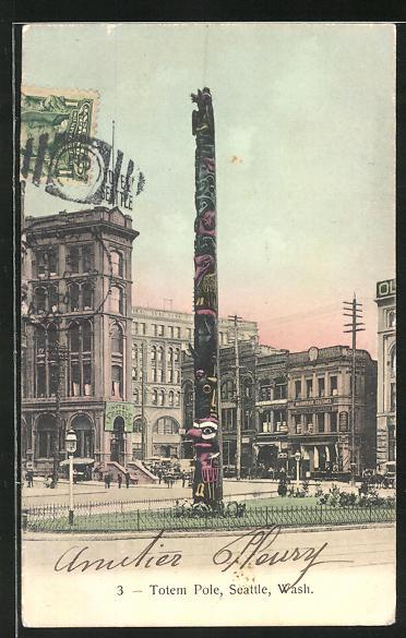 AK Seattle, WA, Totem Pole