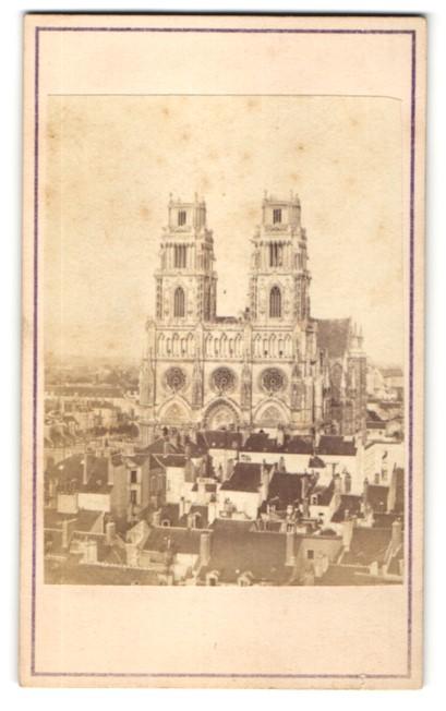Fotografie unbekannter Fotograf, Ansicht Orléans, Blick zur Kathedrale