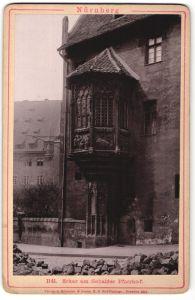 Fotografie W. Biede, Nürnberg, Ansicht Nürnberg, Erker am Sebalder Hof