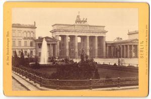 Fotografie J. Stiehm, Berlin, Ansicht Berlin, Brandenburger Thor