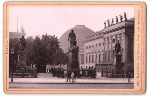 Fotografie Römmler & Jonas, Dresden, Ansicht Berlin, Denkmäler von Blücher, York und Gneisenau