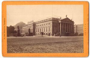 Fotografie J. F. Stiehm, Berlin, Ansicht Berlin, Kgl. Opernhaus 1880