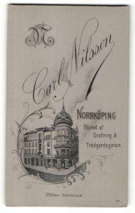 Fotografie Carl Nilsson, Norrköping, Ansicht Norrköping, Foto-Atelier & Geschäftshaus