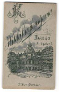 Fotografie Hilda Kuylenstjerna, Boras, Ansicht Boras, Geschäftshaus Allegatan 1