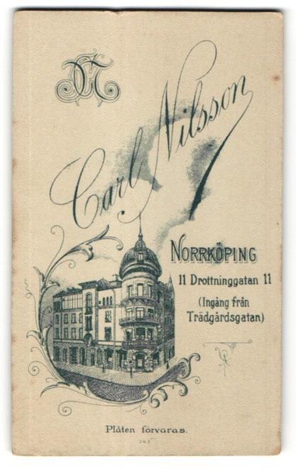 Fotografie Carl Nilsson, Norrköping, Ansicht Norrköping, Atelier & Geschäftshaus Drottninggatan 11