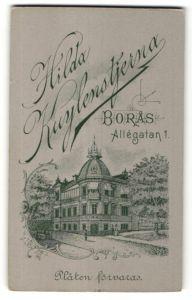 Fotografie Hilda Kuylenstjerna, Boras, Ansicht Boras, Atelier und Geschäftshaus Allegatan 1