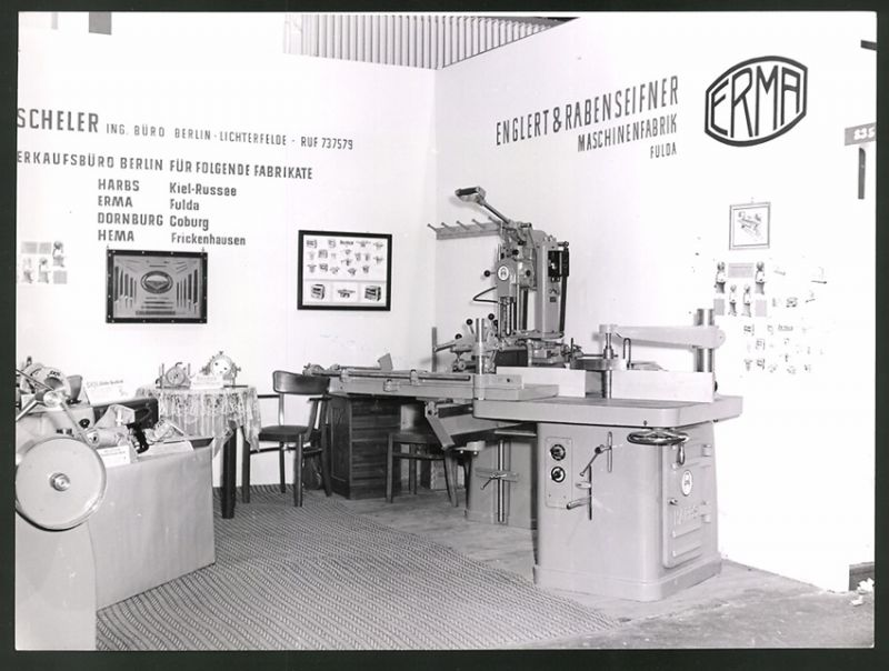 Fotografie Berlin, Industrie-Messe, Messestand von Engelbert & Rabenseifner Maschinenfabrik Fulda