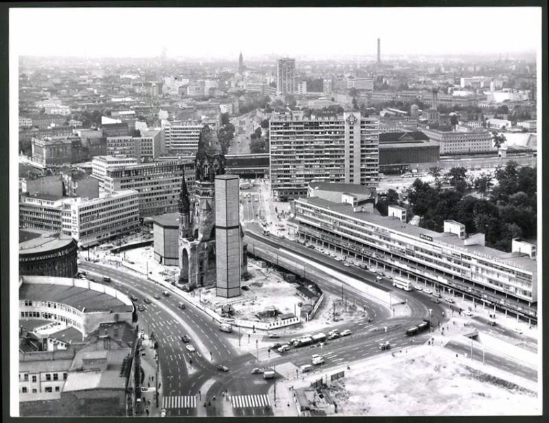 Fotografie Fotograf unbekannt, Ansicht Berlin, Kurfürstendamm, Breitscheidplatz & Budapester Strasse