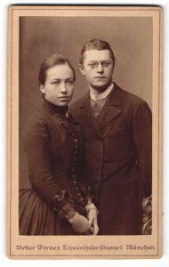 Fotografie Atelier Werner, München, Portrait junges bürgerliches Paar