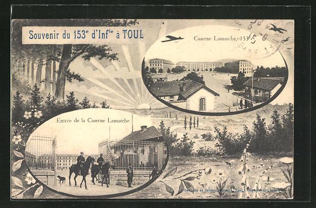 AK Toul, Caserne Lamarche, 153e d'Infanterie