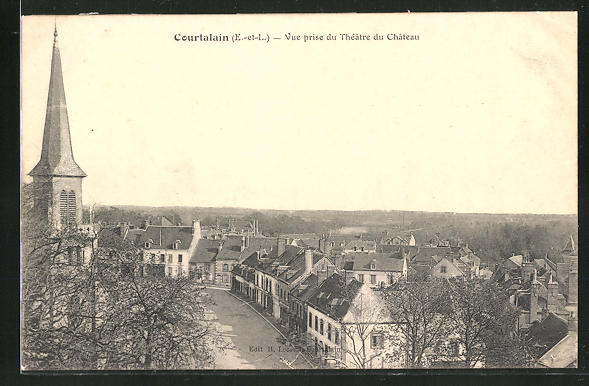 AK Courtalain, Vue prise du Théatre du Chateau