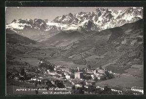 AK Potes, Ortsansicht, Los Picos de Europa