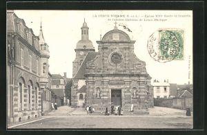 AK La Ferte-Vidame, Eglise XVIe Siecle et Tourelle de l'ancien Chateau de Louis-Philippe