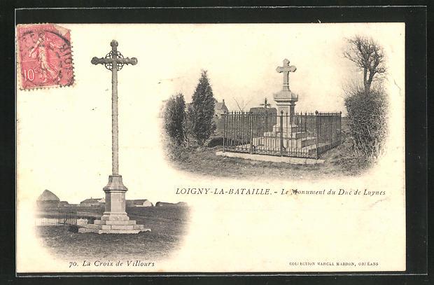AK Loigny-la-Bataille, Le Monument du Duc de Luynes