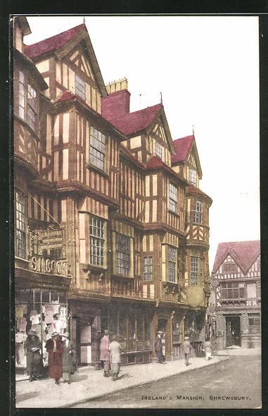 AK Shrewsbury, Ireland's Mansion, histor. Gebäude