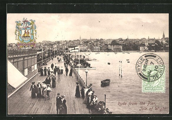 AK Ryde, from the Pier, Isle of Wight, Wappen