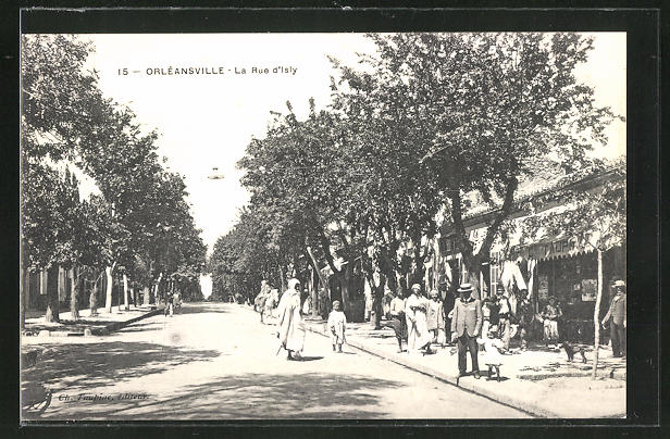 AK Orléansville, La Rue d'Isly