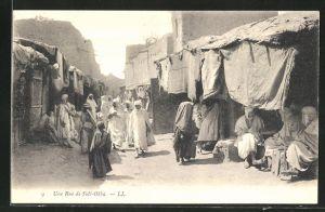 AK Sidi-Okba, Une Rue, Strassenansicht