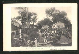 AK N'Djole, Embarquement de Caoutchouc
