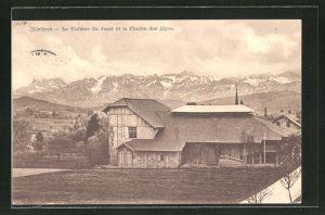 AK Mézieres, Le Théatre du Jorat et la Chaine des Alpes
